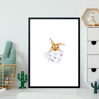Постер Кролик в кружке  - фото 2