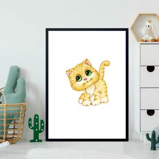 Постер Котенок с зелеными глазами  - фото 2