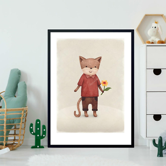 Постер Кот с цветком  - фото 2