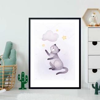 Постер Кошка и облако  - фото 2