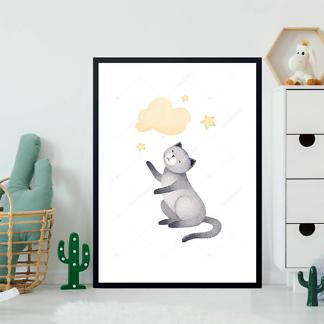 Постер Кошка и облако — 2  - фото 2
