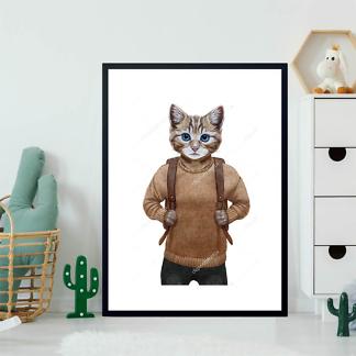 Постер Котенок в свитере  - фото 2