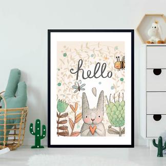 Постер мультяшный Hello Кролик  - фото 2