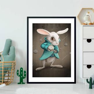 Постер Белый кролик с часами  - фото 2