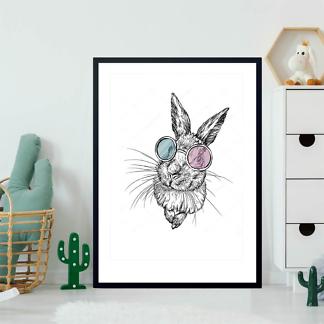 Постер Кролик в разноцветных очках  - фото 2