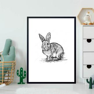 Постер Кролик иллюстрация  - фото 2