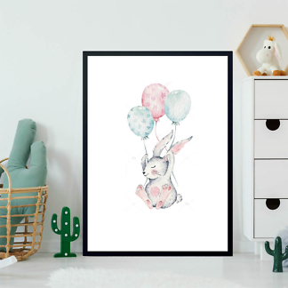Постер Кролик с шариками  - фото 2