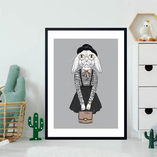 Постер Наряженная хипстер-кролик  - фото 2