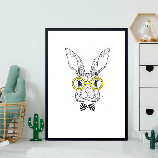 Постер Кролик в очках  - фото 2