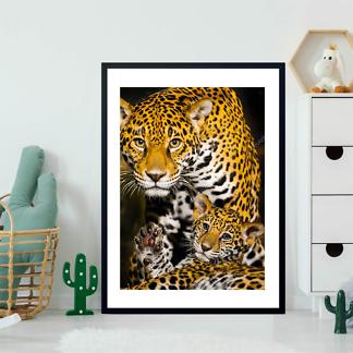 Постер Леопард с детенышем  - фото 2