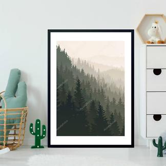 Постер Хвойный лес  - фото 2