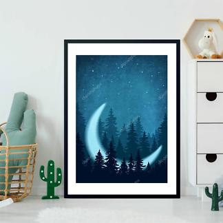 Постер Лес и месяц  - фото 2