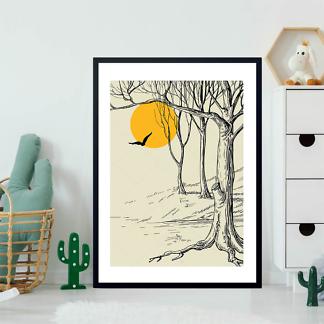 Постер Луна в лесу  - фото 2