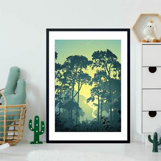 Постер Утро в лесу  - фото 2