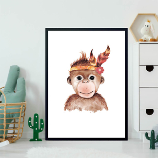 Портрет обезьянки  - фото 2