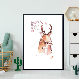 Постер Акварельный олень -4  - фото 2