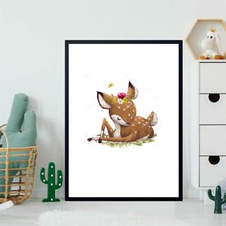 Постер пятнистый олененок  - фото 2