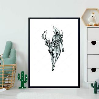 Постер Бегущий олень  - фото 2
