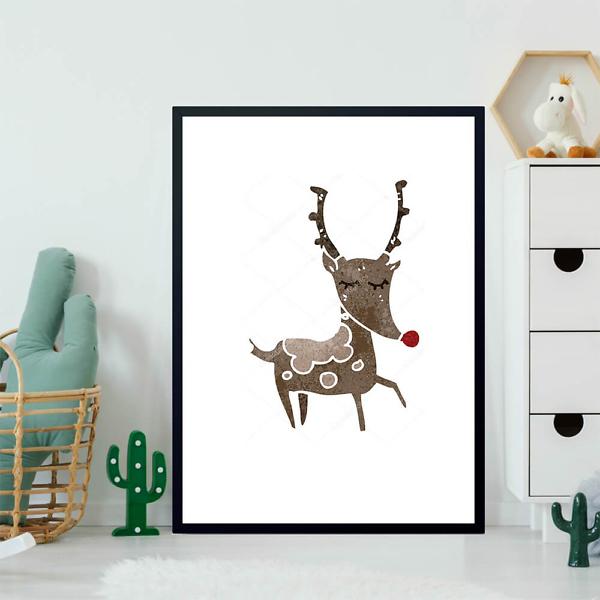 Постер Карикатурный олень  - фото 2