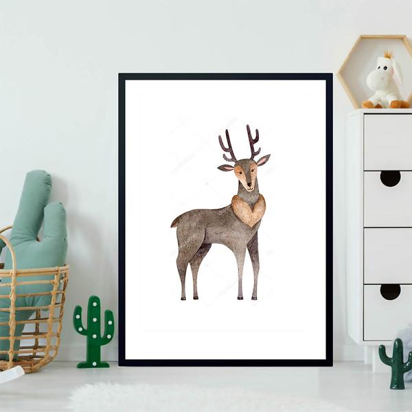Постер Лесной олень  - фото 2