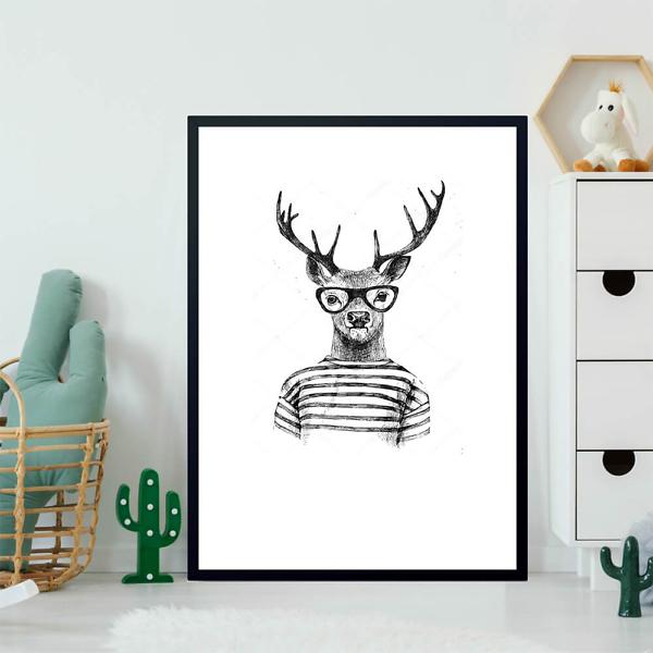 Постер Модный олень  - фото 2