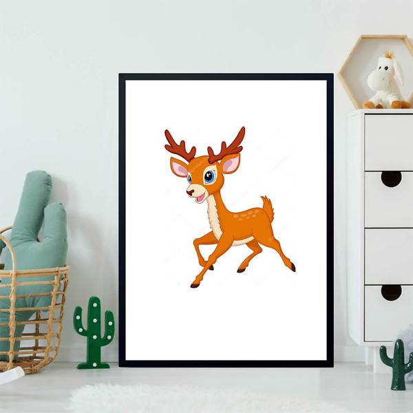 Постер Мультяшный олень  - фото 2