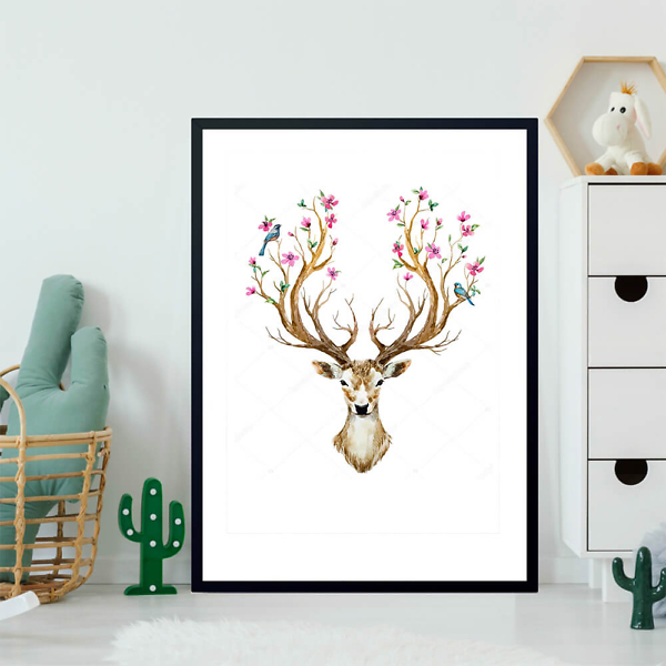 Постер Олень с цветущими рогами  - фото 2