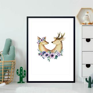 Постер Влюбленные олени  - фото 2