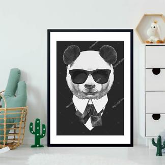 Постер Панда в черных очках  - фото 2