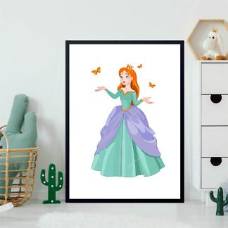 Постер Принцесса с бабочками  - фото 2