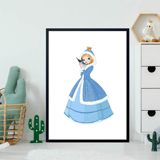 Постер Зимняя принцесса с птичкой  - фото 2
