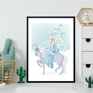 Постер Зимняя принцесса на фоне замка  - фото 2