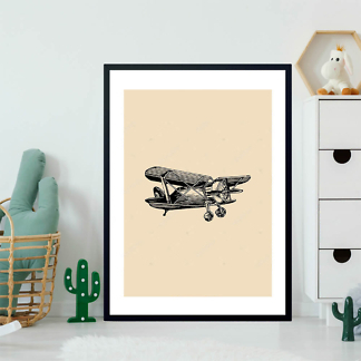 Постер Эскиз самолета  - фото 2