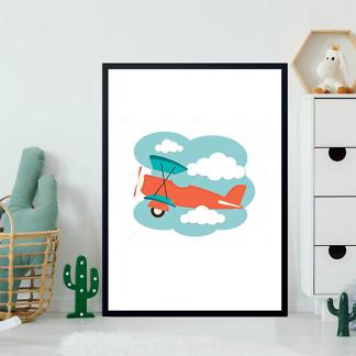 Постер Иллюстрация самолета  - фото 2