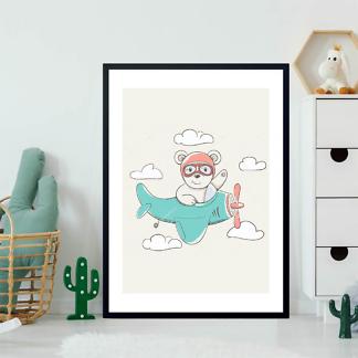 Постер Мишка на самолете  - фото 2