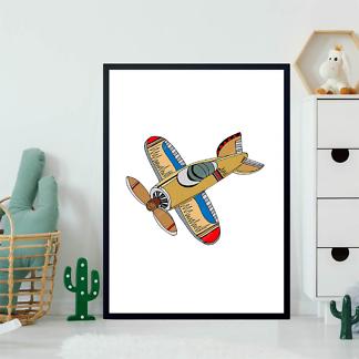 Постер Мультяшный самолет  - фото 2