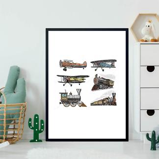 Постер Поезда и самолеты  - фото 2