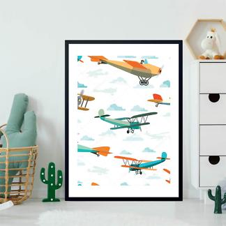 Постер Ретро самолеты  - фото 2