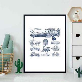 Постер Ретро транспорт  - фото 2