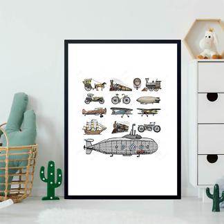 Постер Ретро транспорт-2  - фото 2