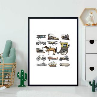 Постер Ретро транспорт-3  - фото 2