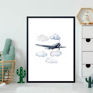 Постер Самолет в облаках  - фото 2