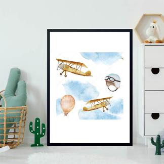 Постер Самолеты и воздушный шар  - фото 2