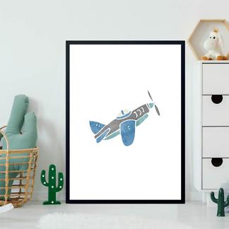 Постер Синий самолет  - фото 2
