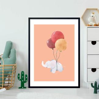 Постер Слоненок летит на шариках  - фото 2