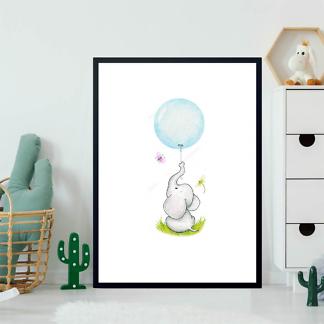 Постер Слон держащий шарик  - фото 2