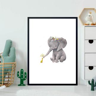 Постер Слоненок и утка  - фото 2