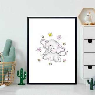 Постер Слон в цветах  - фото 2