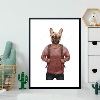 Постер Французский бульдог в свитере  - фото 2