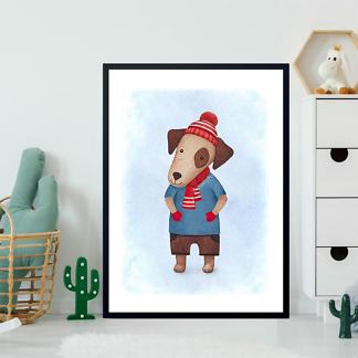 Постер Собака в шапочке  - фото 2